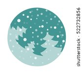 Vector Fir Tree Flat With...