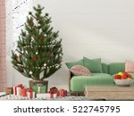 3d illustration. christmas... | Shutterstock . vector #522745795