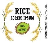rice logo vector for label... | Shutterstock .eps vector #522749206