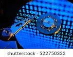 hard disk drive of computer ...   Shutterstock . vector #522750322