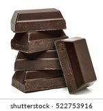 chocolate bars stack isolated... | Shutterstock . vector #522753916