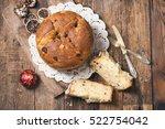 homemade panettone. tradidional ...   Shutterstock . vector #522754042