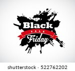 black friday hand made splash... | Shutterstock .eps vector #522762202