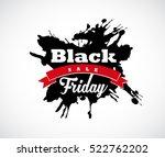 black friday hand made splash... | Shutterstock .eps vector #522762202