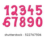 hand drawn vintage numbers set | Shutterstock .eps vector #522767506