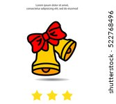 web line icon. bell with bow | Shutterstock .eps vector #522768496