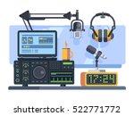 radio station studio | Shutterstock .eps vector #522771772