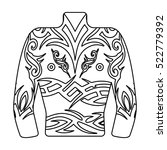 body tattoo icon in outline... | Shutterstock . vector #522779392