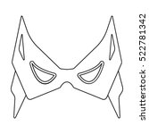 eye mask icon in outline style... | Shutterstock . vector #522781342