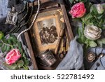 old photo  vintage jewelry and... | Shutterstock . vector #522781492