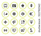 set round icons of 3d printing | Shutterstock .eps vector #522782362