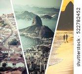 collage of rio de janeiro ... | Shutterstock . vector #522782452
