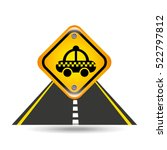 taxi yellow road street sign... | Shutterstock .eps vector #522797812