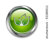 green glossy ecological button | Shutterstock .eps vector #52280011