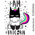 cute magical unicorn sweet kids ... | Shutterstock .eps vector #522803836