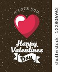 card of happy valentines day... | Shutterstock .eps vector #522806962