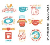 set retro vintage logos for... | Shutterstock .eps vector #522809656