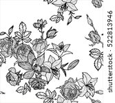 vintage vector floral seamless... | Shutterstock .eps vector #522813946