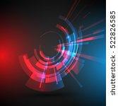 techno geometric vector circle... | Shutterstock .eps vector #522826585