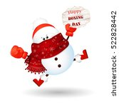 happy boxing day. cute  funny ...   Shutterstock .eps vector #522828442