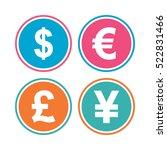 dollar  euro  pound and yen...   Shutterstock . vector #522831466