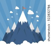 shining mountain peaks on a... | Shutterstock .eps vector #522832786