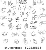 set of hand drawn black and... | Shutterstock .eps vector #522835885