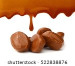 caramel candies and sauce... | Shutterstock . vector #522838876