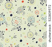 seamless floral pattern with...   Shutterstock .eps vector #522839572