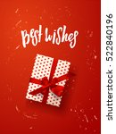 color vector gift box  bows and ... | Shutterstock .eps vector #522840196