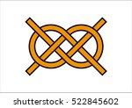 carrick bend. carrick bend knot ... | Shutterstock .eps vector #522845602