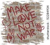 illustration of anti war... | Shutterstock .eps vector #52284934
