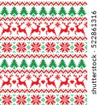 new year's christmas pattern... | Shutterstock .eps vector #522861316