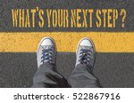 what s your next step   print... | Shutterstock . vector #522867916