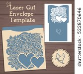 lasercut vector wedding... | Shutterstock .eps vector #522870646