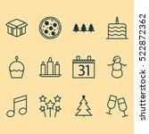 set of 12 celebration christmas ...