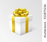 gift box with yellow ribbon... | Shutterstock .eps vector #522875236