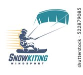 snowkiting. sport emblem | Shutterstock .eps vector #522879085