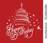 happy birthday card design with ... | Shutterstock .eps vector #522881086