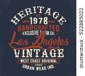 vintage effected vector design... | Shutterstock .eps vector #522885022