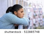 young beautiful sad and... | Shutterstock . vector #522885748