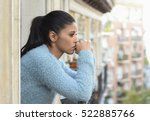 young beautiful sad and... | Shutterstock . vector #522885766
