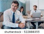 focused mature businessman deep ... | Shutterstock . vector #522888355