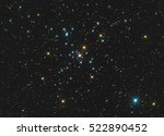colourful star cluster with... | Shutterstock . vector #522890452