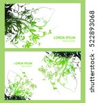 floral abstraction with... | Shutterstock .eps vector #522893068