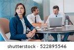 focused young businesswoman...   Shutterstock . vector #522895546