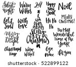 set of handwritten christmas...