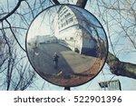 the traffic curve mirror ...   Shutterstock . vector #522901396