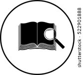 open book and magnifier symbol | Shutterstock .eps vector #522901888