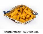 top view of open corn puff... | Shutterstock . vector #522905386